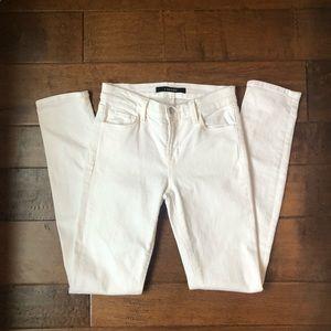 J Brand Skinny Ankle Jean in Blanc